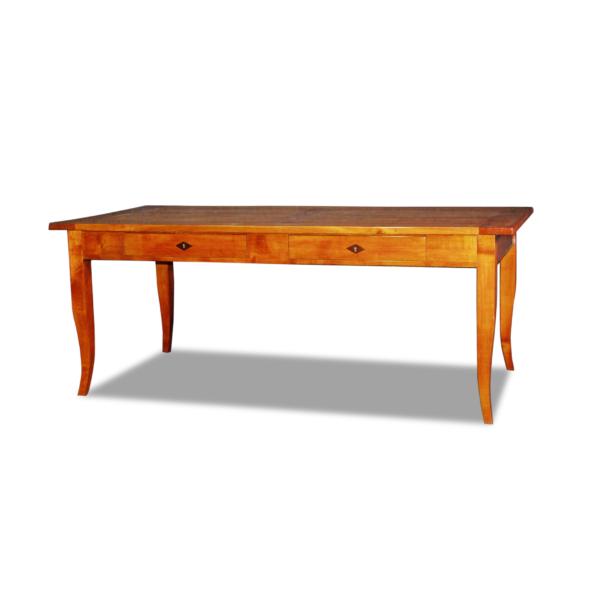 ANTIK SHOP Tisch Biedermeier, um 1900 Kirschbaum bzw. Nußbaum, hochglänzend lackiert B: 180 cm T: 90 cm H: 80 cm alle Reproduktionen werden nach Originalvorbild traditionell gefertigt.