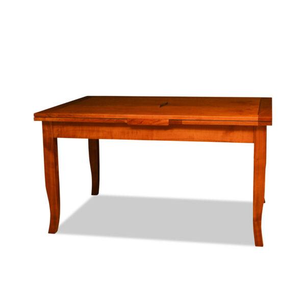 ANTIK SHOP Tisch Biedermeier Stil ausziehbar Biedermeier Stil, um 1900 Kirschbaum, hochglänzend lackiert