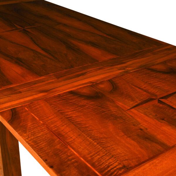 ANTIK SHOP Tisch Biedermeier Stil ausziehbar Biedermeier Stil, um 1900 Nußbaum, hochglänzend lackiert