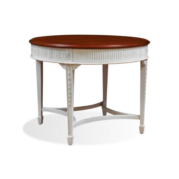 ANTIK SHOP Louis Seize Stil Tisch Louis Seize II. Zeit, um 1930 Mahagoni, Shabby Chic B: 86 cm T: 86 cm H: 66 cm Louis Seize Tisch aus der 2. Zeit.