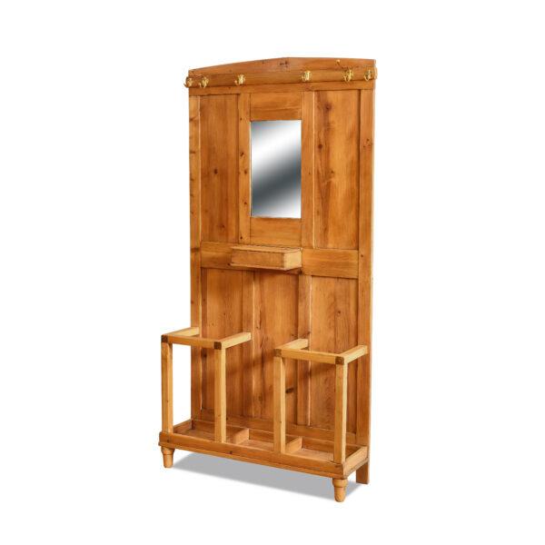 ANTIK SHOP Jugendstil Garderobe Jugendstil, um 1900 Fichte, biologisch gewachst B: 90 cm T: 27 cm H: 180 cm kleine Jugendstilgarderobe aus Weichholz.