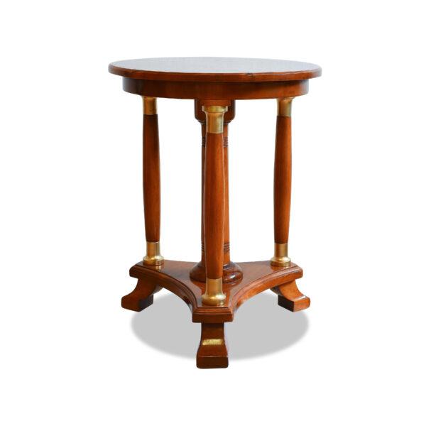 ANTIK SHOP Biedermeier Tischchen Biedermeier, um 1840 Kirschbaum, Schellack handpoliert B: 36 cm T: 36 cm H: 47 cm kleines Biedermeiertischchen aus massivem Kirschbaum & Birne.