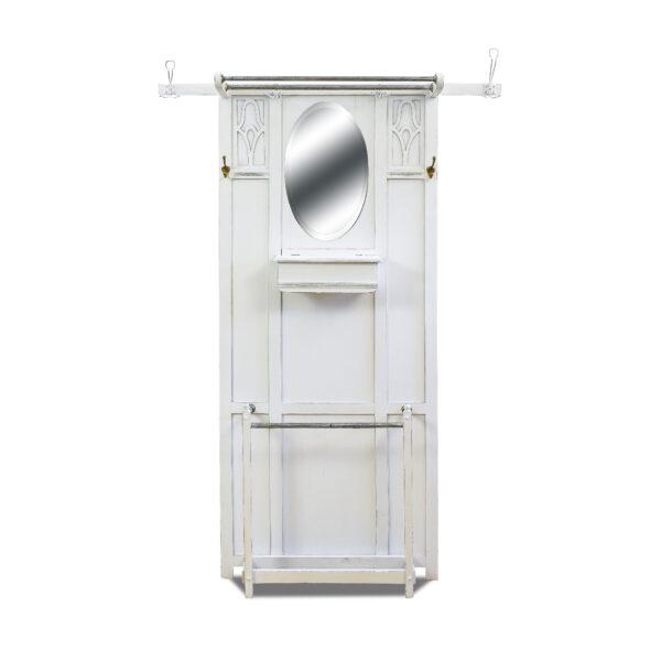 ANTIK SHOP Jugendstil Garderobe Jugendstil, um 1900 Eiche, Shabby Chic B: 120 cm T: 18 cm H: 183 cm Jugendstilgarderobe aus Eiche.