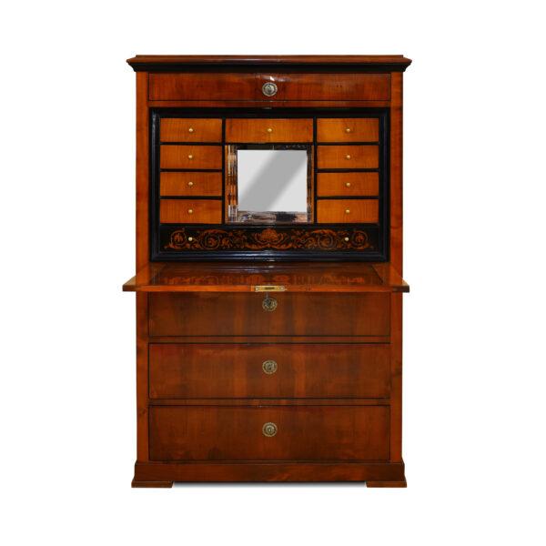ANTIK ANTIK SHOP Biedermeier Sekretär Biedermeier, um 1820 Kirschbaum, Schellack handpoliert B: 98 cm T: 48 cm H: 155 cm Biedermeiersekretär aus Kirschbaum.