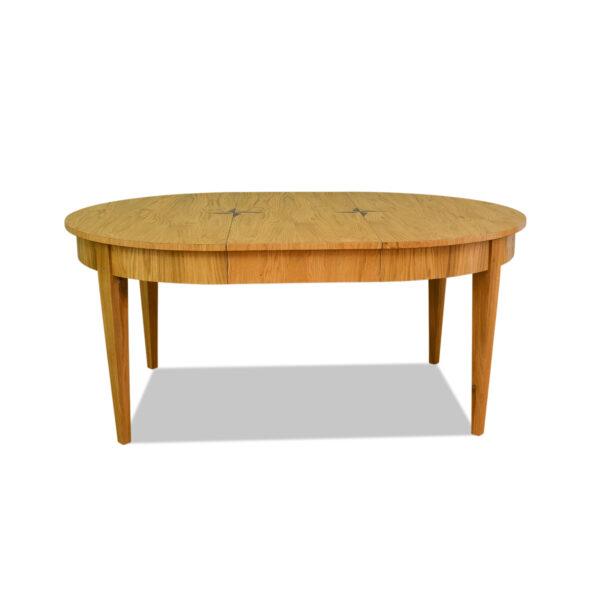 ANTIK SHOP Biedermeier Tisch Biedermeier Stil, um 1900 Eiche, mattiert B: 120 cm T: 120 cm H: 80 cm