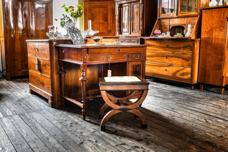 ANTIK SHOP Antiquitäten Kleinostheim  Jugendstil  Schreibtisch Kirschbaum  Möbel