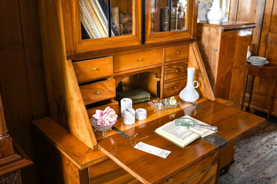 ANTIK SHOP Antiquitäten Kleinostheim  Jugendstil  Sekretär Kirschbaum  Möbel