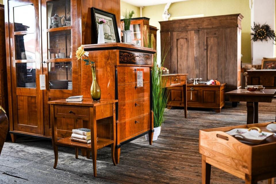 ANTIK SHOP Antiquitäten Kleinostheim  Jugendstil Kommode Kirschbaum  Möbel