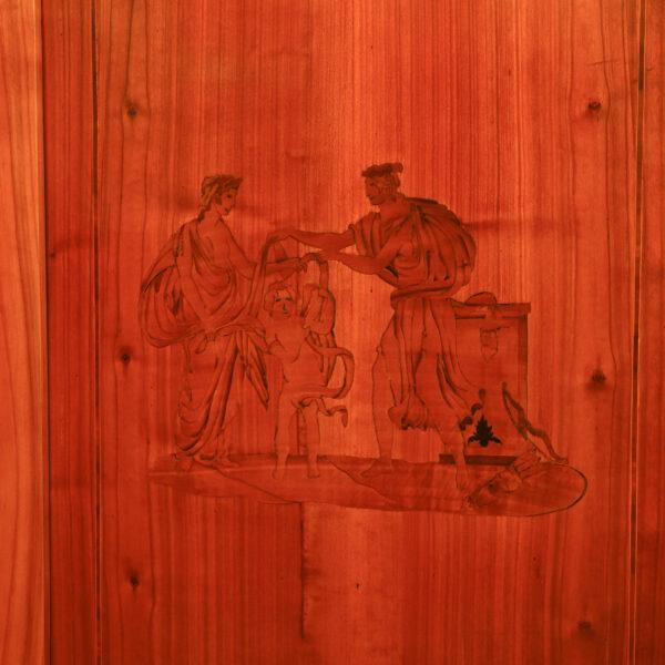 ANTIK SHOP Biedermeier Ofenschirm Biedermeier, um 1840 Kirschbaum, handpoliert B: 60 cm T: 51 cm H: 130 cm