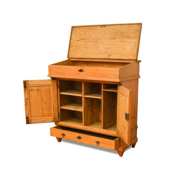 ANTIK SHOP Biedermeier Stehpult Biedermeier, um 1850 Fichte, biologisch gewachst B: 100 cm T: 55 cm H: 109 cm Biedermeier Stehpult aus Weichholz