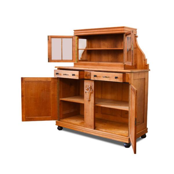 ANTIK SHOP Art Deco Buffet Art Deco, um 1930 Kirschbaum, mattiert B: 147 cm T: 58 cm H: 171 cm