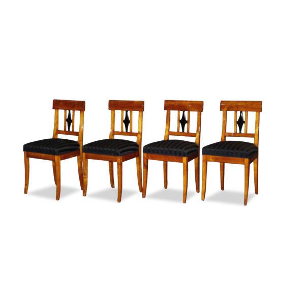 ANTIK SHOP Stuhl Biedermeier Stil Biedermeier Stil, um 0 Kirschbaum, hochglänzend lackiert B: 44 cm T: 45 cm H: 91 cm