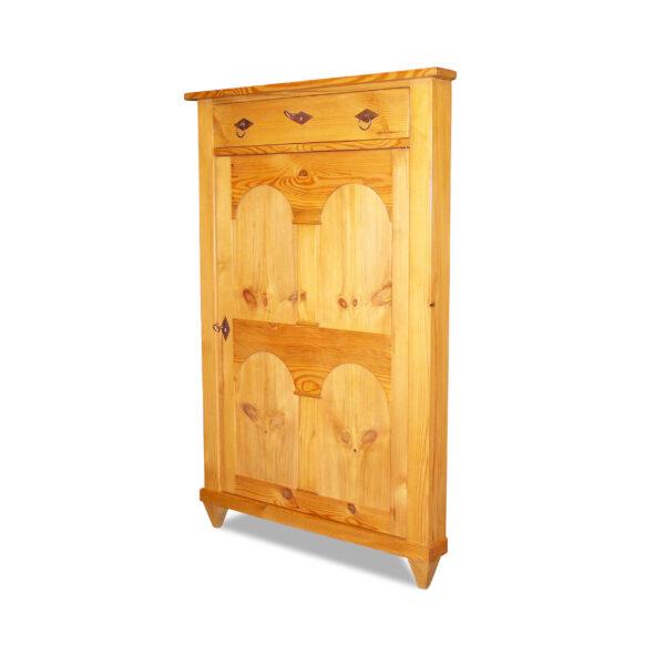 ANTIK SHOP Eck Vertiko Jugendstil Stil Jugendstil, um 0 Kiefer, biologisch gewachst B: 80 cm T: 57 cm H: 123 cm Jugendstil Eck-Vertiko aus Weichholz traditionell aus Altholz gefertigt.