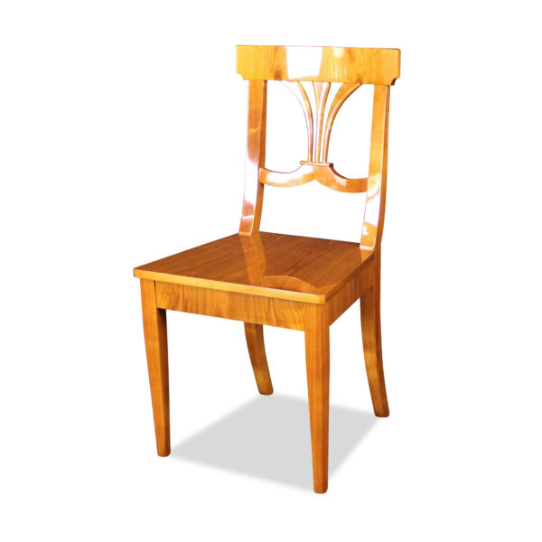 ANTIK SHOP Stuhl Biedermeier Stil Biedermeier Stil, um 1900 Kirschbaum, hochglänzend lackiert B: 49 cm T: 49 cm H: 93 cm