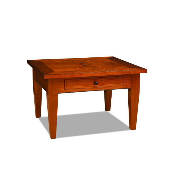 ANTIK SHOP Biedermeier Stil Sofatisch Biedermeier Stil, um 1900 Kirschbaum, hochglänzend lackiert B: 80 cm T: 70 cm H: 50 cm