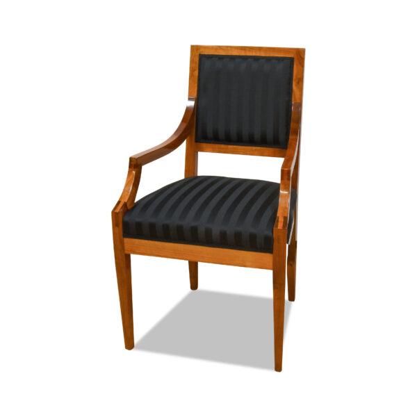 ANTIK SHOP Biedermeier Stil Sessel Biedermeier, um 0 Kirschbaum bzw. Nußbaum, hochglänzend lackiert B: 56 cm T: 55 cm H: 88 cm Nach Originalvorbild traditionell gefertigter Biedermeierstuhl aus Kirschbaum oder Nußbaum