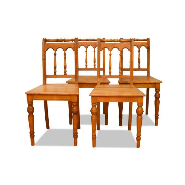 ANTIK SHOP Stuhl Gründerzeit Stil Gründerzeit, um 1900 Kiefer, biologisch gewachst B: 43 cm T: 43 cm H: 92 cm Gründerzeit Stuhl aus Weichholz