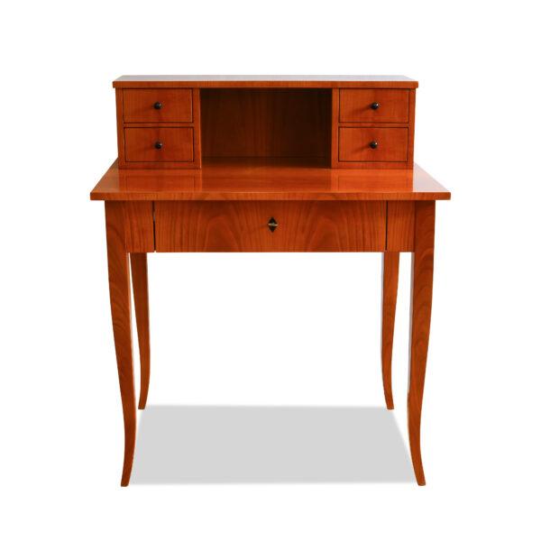 ANTIK SHOP Biedermeier Stil Schreibtisch Biedermeier Stil, um 1900 Kirschbaum bzw. Nußbaum, mattiert