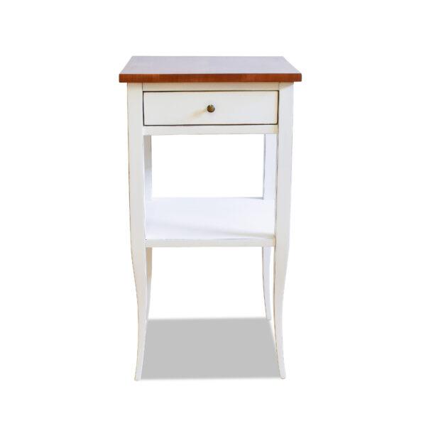 ANTIK SHOP Biedemeier Stil Tischchen Biedermeier Stil, um 1900 Kirschbaum, Shabby Chic B: 40 cm T: 40 cm H: 76 cm Biedermeier Stil Tischchen mit Ablagebrett Shabby Chic.