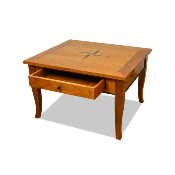 ANTIK SHOP Biedermeier Stil Sofatisch um 1900 Kirschbaum hochglänzend lackiert B: 80 cm T: 70 cm H: 50 cm