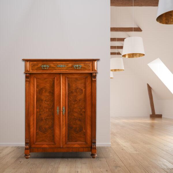 ANTIK SHOP Gründerzeit Vertiko Nussbaum um 1880 seidenglänzend Möbel online kaufen
